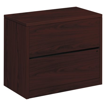 HON 2 Drawers Lateral Lockable Filing Cabinet, Brown