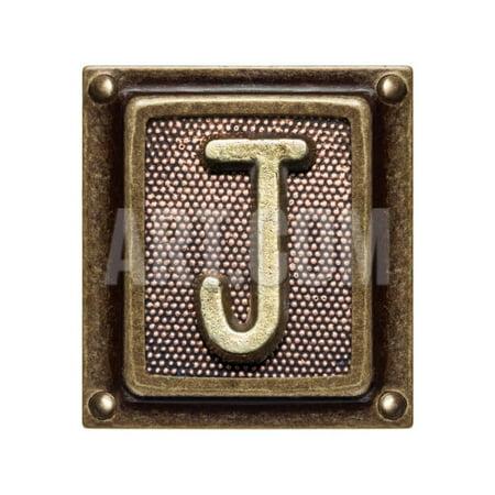 Metal Button Alphabet Letter J Print Wall Art By donatas1205](Button Art)
