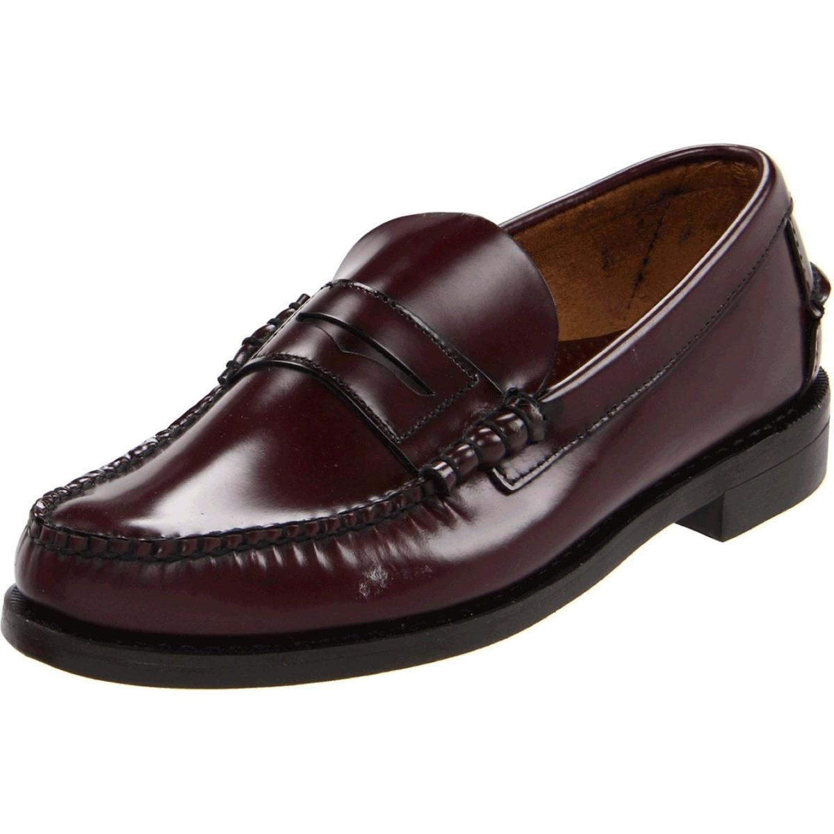 Sebago Classic Antique Brown Mens Antique Brown Loafers by Sebago