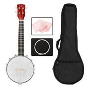 "Glarry 23"" 4-String Beginner Banjo Banjolele Kit"