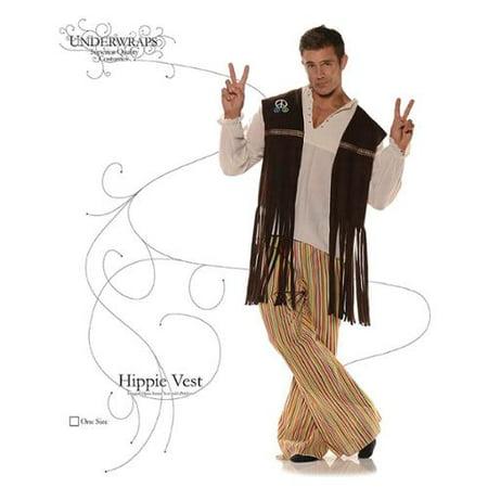 Adult Fringe Hippie Vest - Hippy Vest
