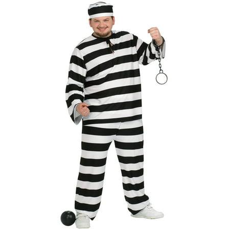 Guilty Convict Plus Size Costume