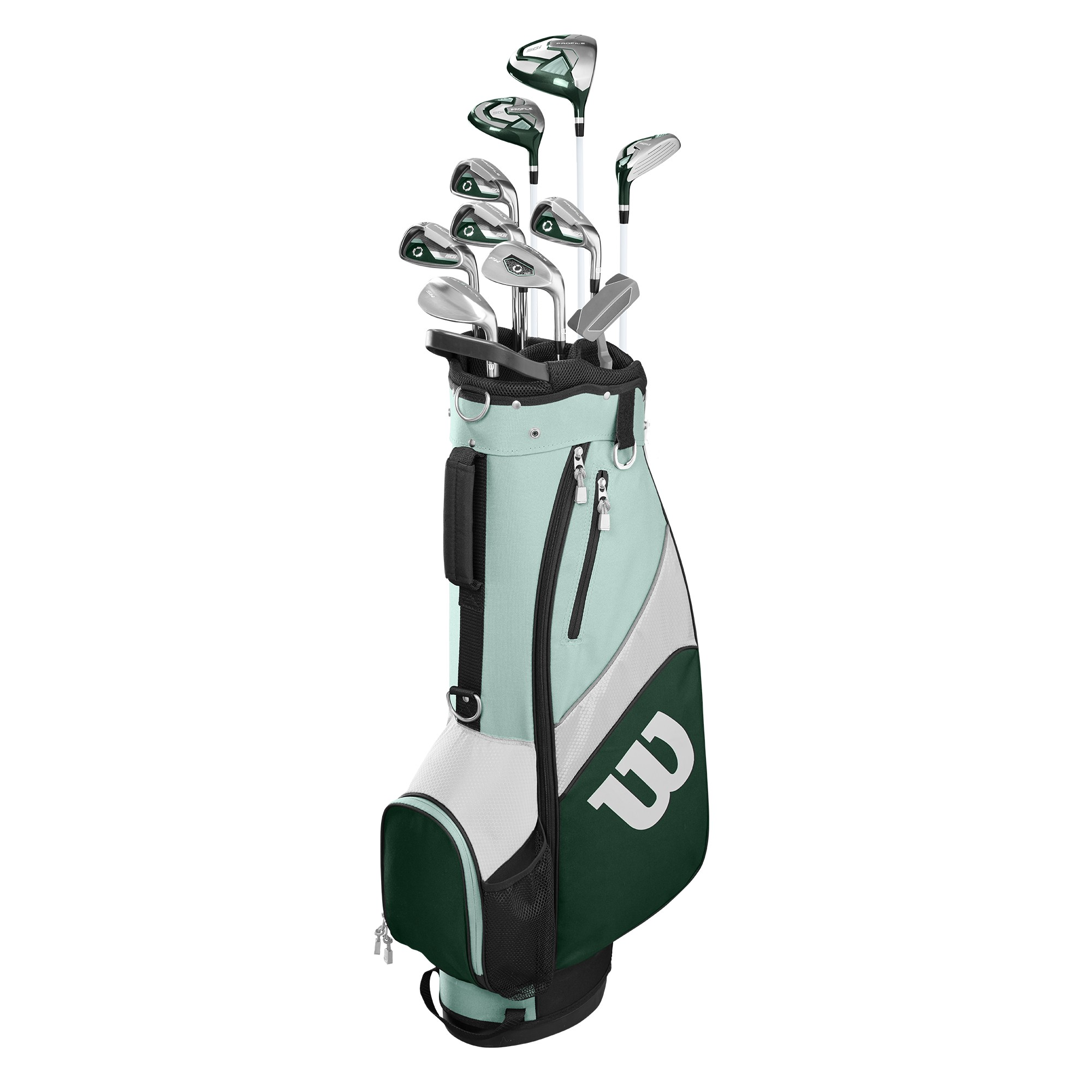 Wilson Golf Profile SGI Teal Women's Golf Complete Set w/ Cart Bag (Petite, Right Handed)