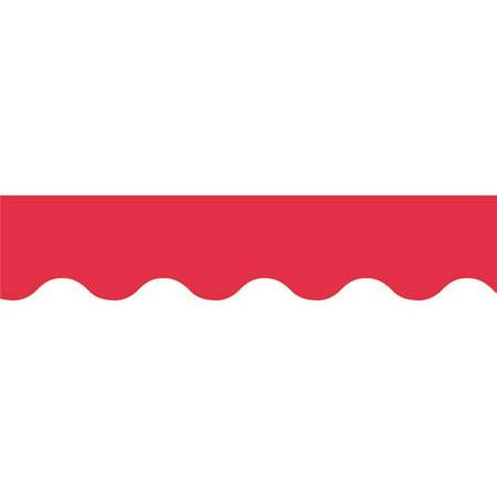 - Poppy Red Wavy Border
