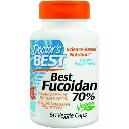 Doctor's Best Fucoidan 70%%, 60 CT