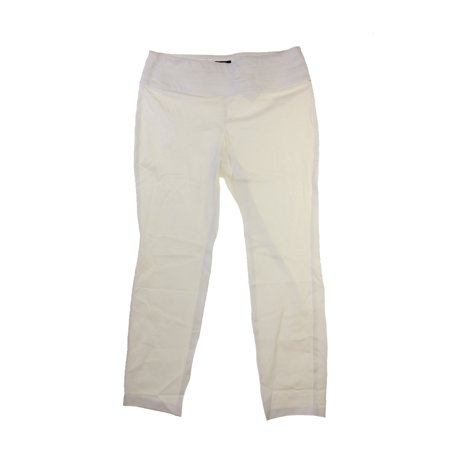 7a5ea37101d Alfani Plus Size White Straight-Leg Pull-On Pants 24W - Walmart.com