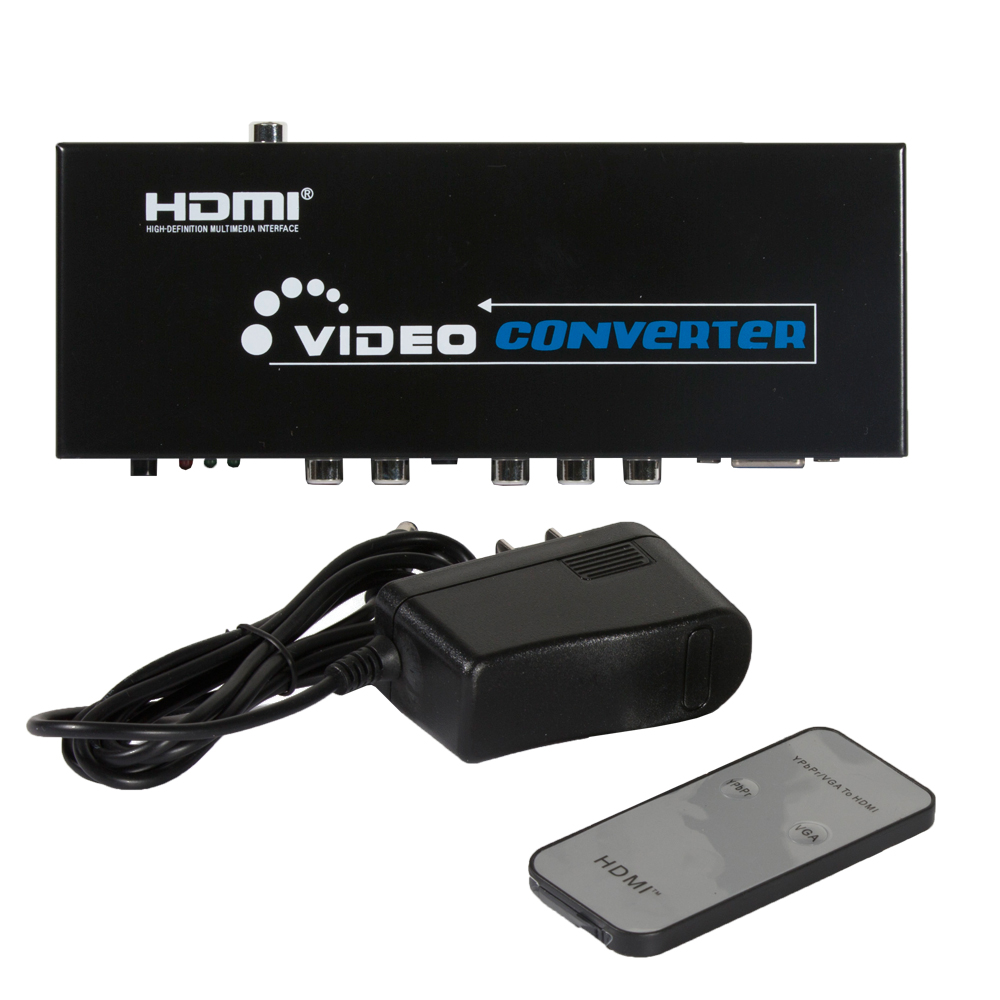 Fosmon Component video YPbPr/VGA to HDMI Converter Adapter & Digital Audio Output Switcher Box