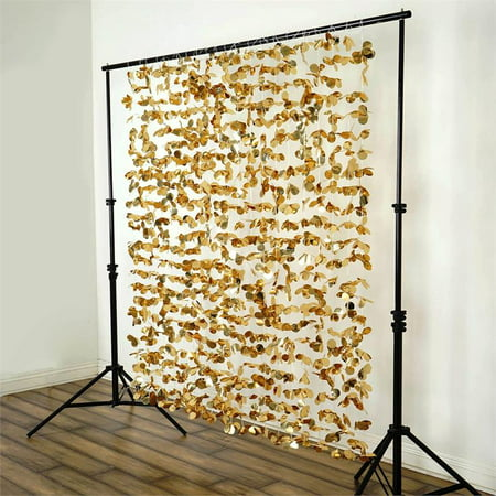BalsaCircle 6 ft x 6 ft Flower Garland Backdrop Curtain - Wedding Party Photobooth Ceremony Event Photo Decorations (Wedding Backdrop Drapes)