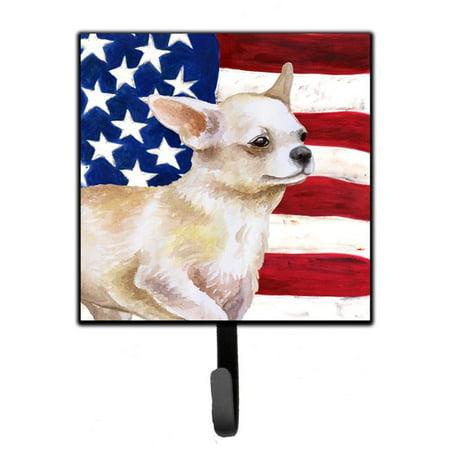 Carolines Treasures BB9697SH4 Chihuahua Leg up Patriotic Leash or Key Holder - image 1 de 1