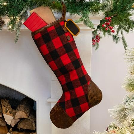 Belham Living Buffalo Plaid Christmas Stocking, 18.5