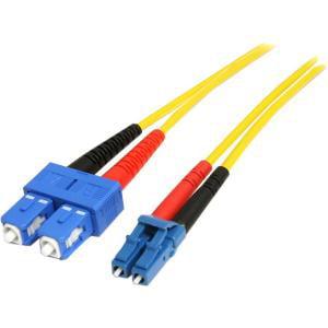 StarTech.com 1m Fiber Optic Cable - Single-Mode Duplex 9/125 - LSZH - LC/SC - OS1 - LC to SC Fiber Patch Cable - LC Male - SC Male - 3.28ft DUPLEX PATCH CABLE