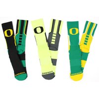 Oregon Ducks 3 Piece Sports Performance Socks Bundle
