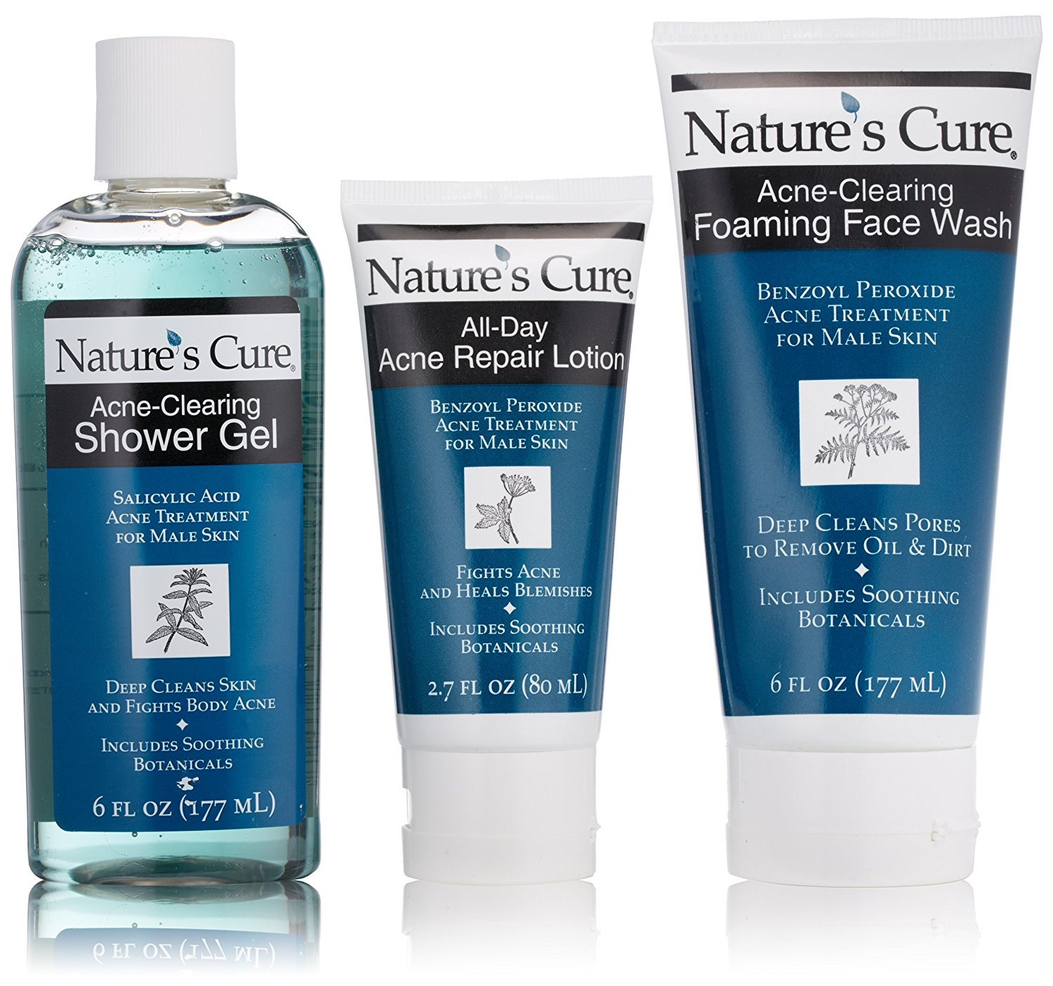 Nature's Cure Anti-Acne Face and Body Shower Kit for Male Skin