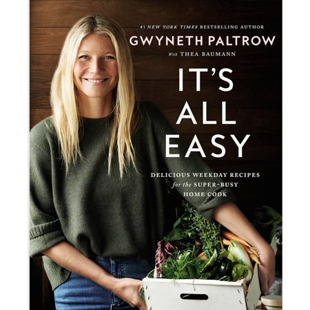It's All Easy Gwyneth Paltrow Cookbook And Recipes With Signed Tip-In Page - Little Signed