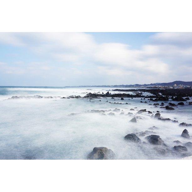 Jeju Island Beaches: Canvas Print Beach Travel Jeju Island Tourism Jeju