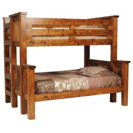 Rustic Wood Twin Over Full Bunk Bed Walmart Com