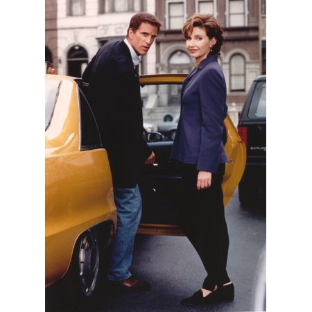 Mary Steenburgen Couple Portrait In A Yellow Car Photo Print