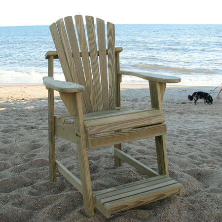 Weathercraft Designers Choice Treated Balcony Adirondack Chair with Footrest -