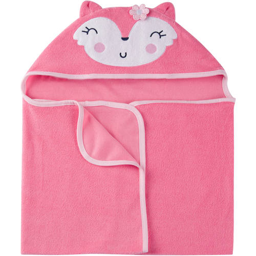 Gerber Newborn Baby Girl Terry Hooded Bath Wrap