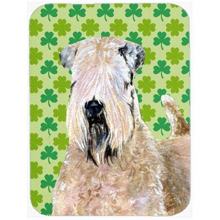 Caroline's Treasures Shamrock Lucky Irish Soft Coated Wheaten Terrier St. Patrick Day Glass Cutting Board](St Patricks Day Glasses)
