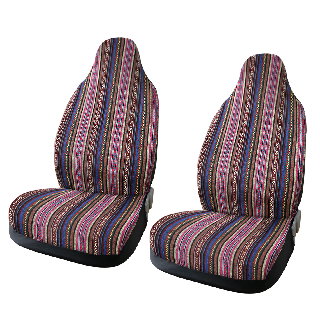 2pcs Universal Fit Baja Blanket Vivid Bucket Seat Cover Protector for Auto Car Truck