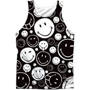 Smiley Men's  Smiles All Around  Mens Tank White
