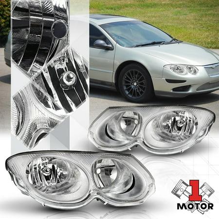 Chrome Housing Clear Lens Replacement Headlight Lamp for 99-04 Chrysler 300M 00 01 02 03