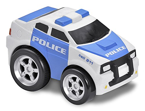 Squeezable Pull Back Police Car. Toddler Emergency Vehicle Toy for Kids Age 2 and Up, Pull... by