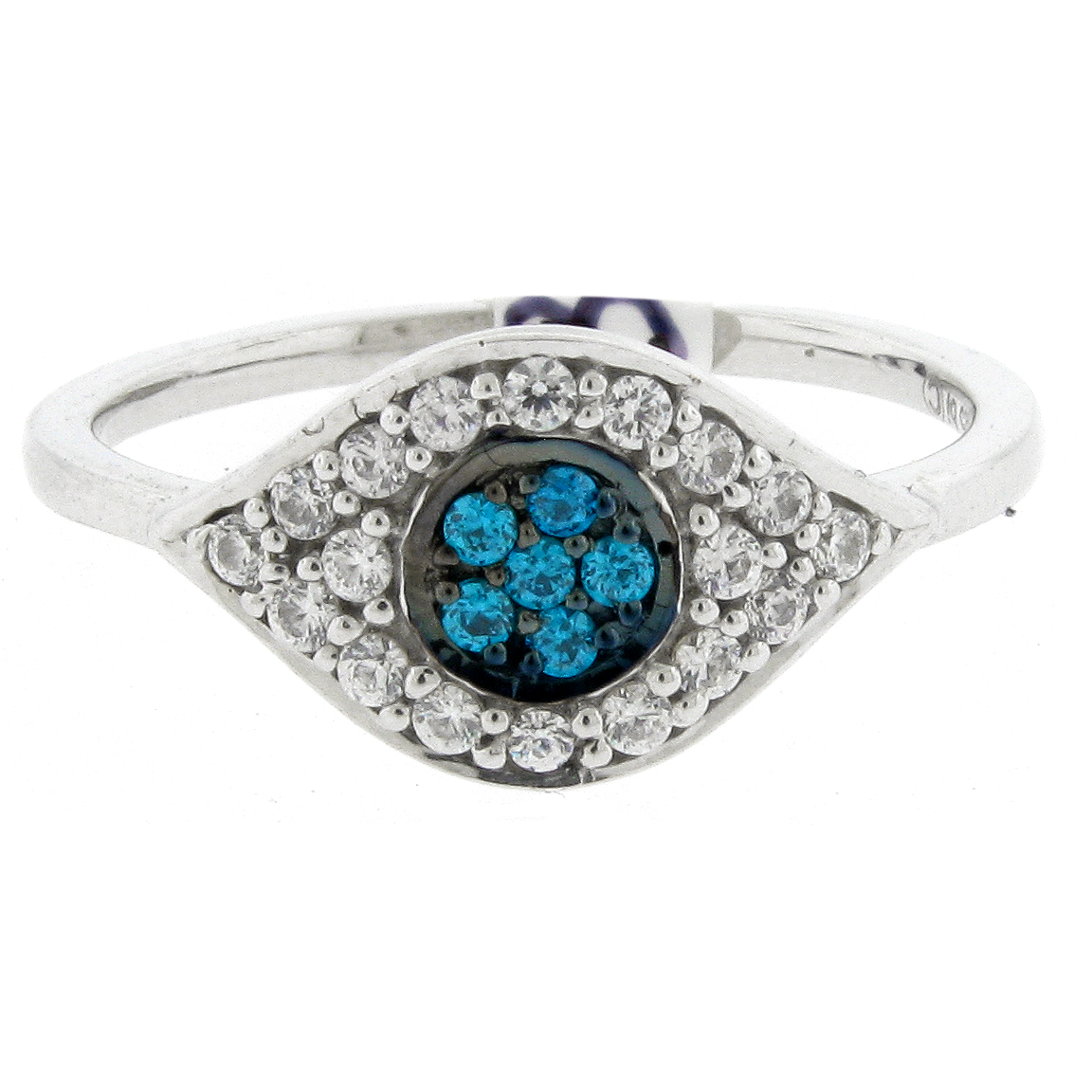 1/3 cttw Blue and White Diamond 925 Sterling Silver Ring