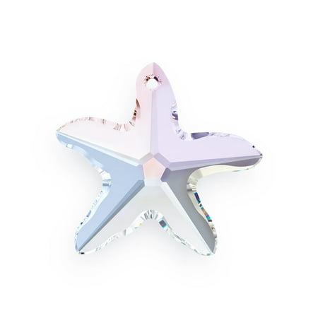 Swarovski Starfish 6721 20mm Crystal AB (Package of 1) 6721 Starfish Pendants Swarovski Crystal