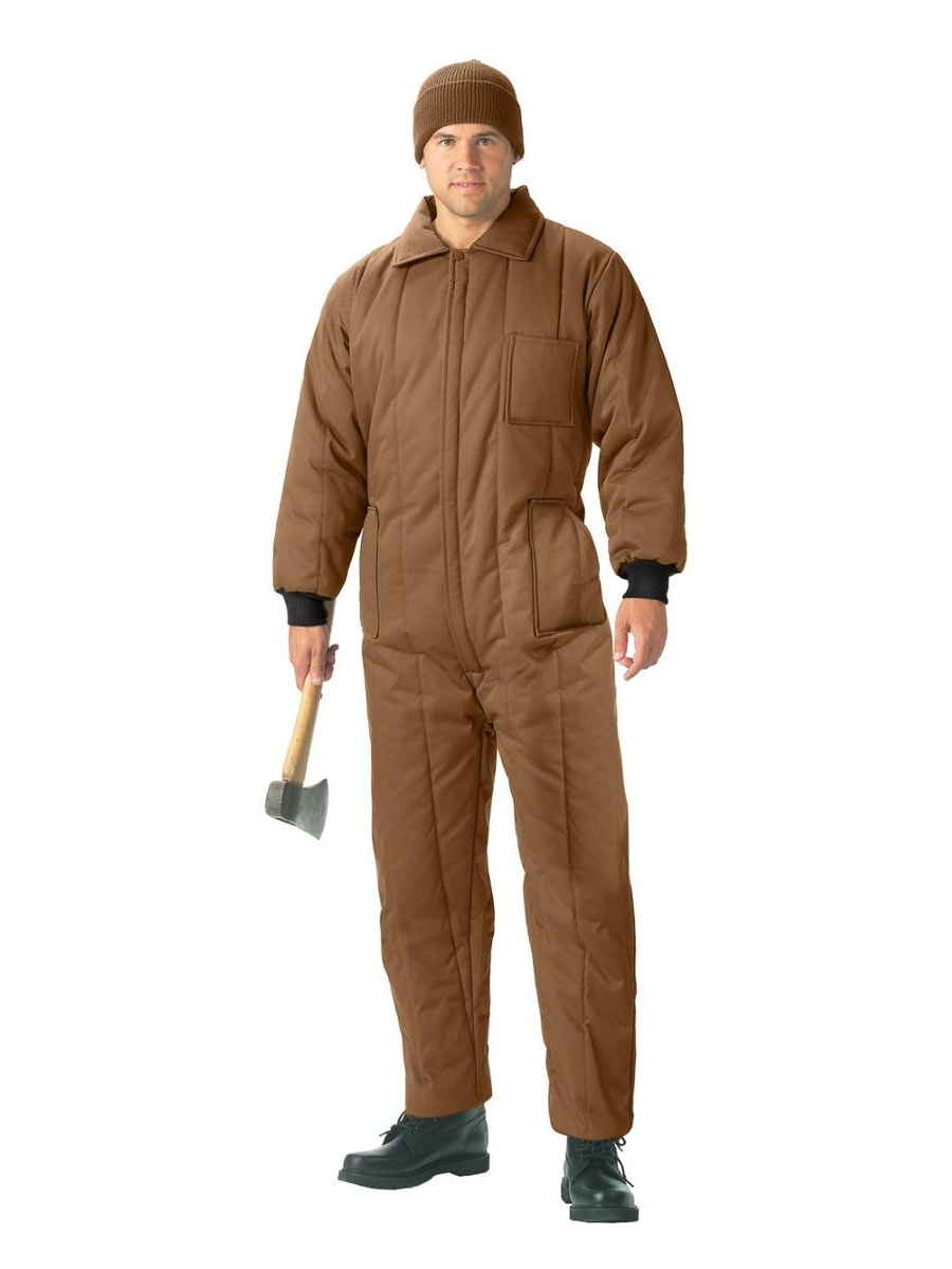 Rothco Men's Insulated Coveralls w Leg Zippers, Coyote Brown by Rothco