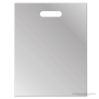 """Clear Frosted Plasic Bags With Handles, 12""""x15"""", 100ct"""