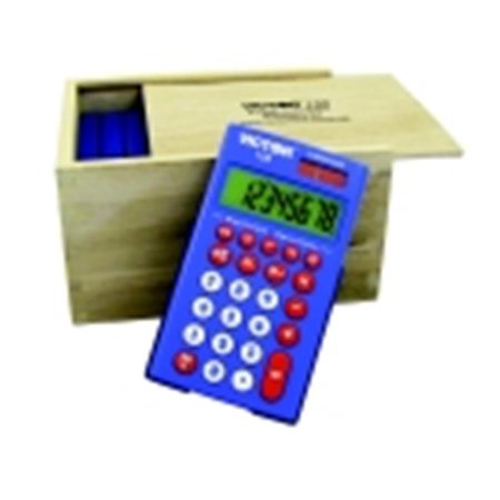 Victor Wool Patterns (Victor 8-Digit Calculator Set With Ecological Wood Storage Box- Set - 10 )
