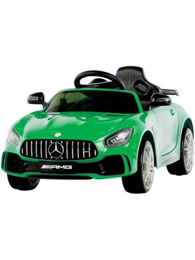 Uenjoy 1 Seater Electric Kids Ride On Car Mercedes Benz AMG GTR Motorized Vehicles with Remote Control, Battery Powered, LED Lights, Wheel Suspension, Music, Horn, TF Card, USB Port, Portable Handle