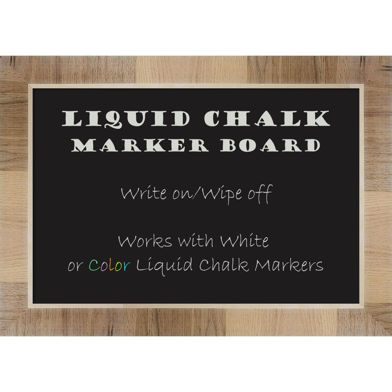Amanti Art Framed Liquid Chalk Marker Board, Natural White Wash