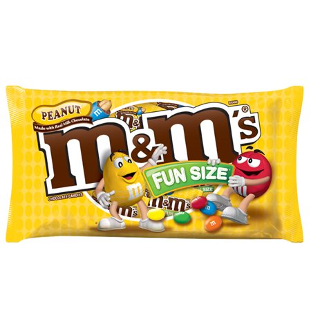 M&M's, Fun Size Peanut Chocolate Candy, 10.57 Oz for $<!---->