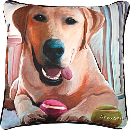 Manual Woodworkers & Weavers Tennis Anyone Lab Throw Pillow