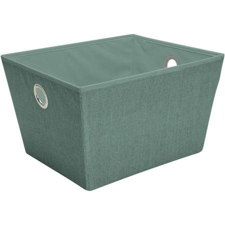 Blue Large Storage Bin - Simplify Large Grommet Storage Bin, Dusty Blue