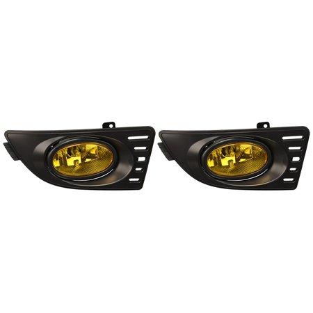 Spec-D Tuning LF-RSX06AMOEM-RS Acura Rsx Base Type-S Oem Style Amber Bumper Fog Lights