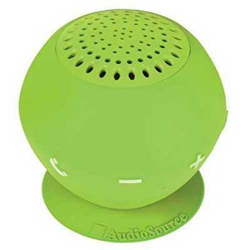 Refurbished AudioSource SP2GRE Sound pOp 2 Water-Resistant Bluetooth Speaker, Green by AudioSource