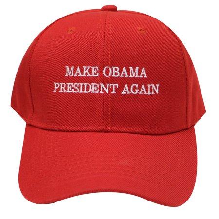C901v Make Obama President Again Velcro Baseball Cap Adjustable - Red