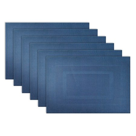 Design Imports Doubleframe Kitchen Placemat Set, Set of 6, 18