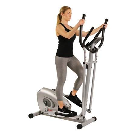 Sunny Health & Fitness SF-E3607 Magnetic Elliptical Bike Elliptical Machine w/ Tablet Holder, LCD Monitor and Heart Rate