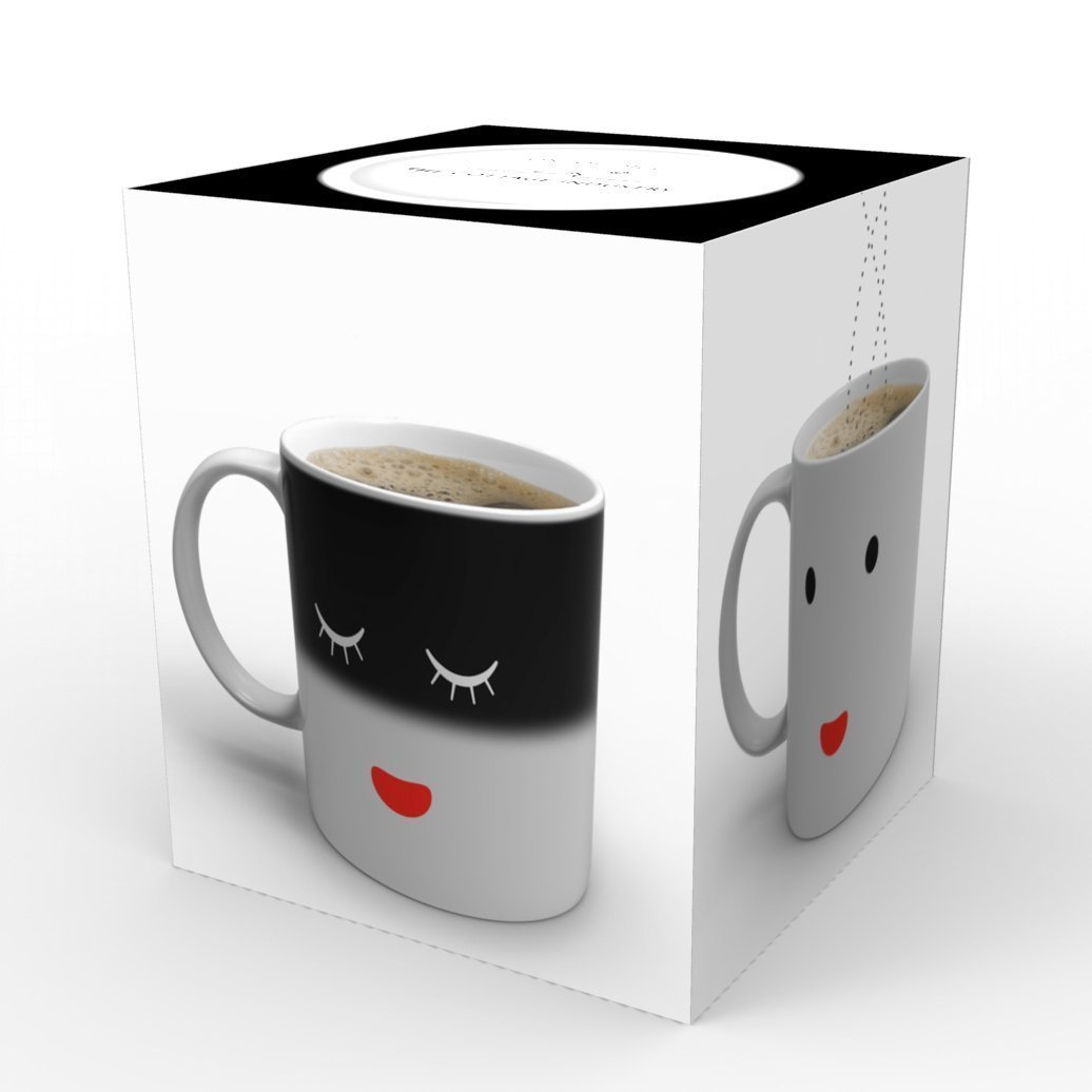 Magic Morning Mug for Coffee Tea Milk ,Heat Sensitive Color-changing