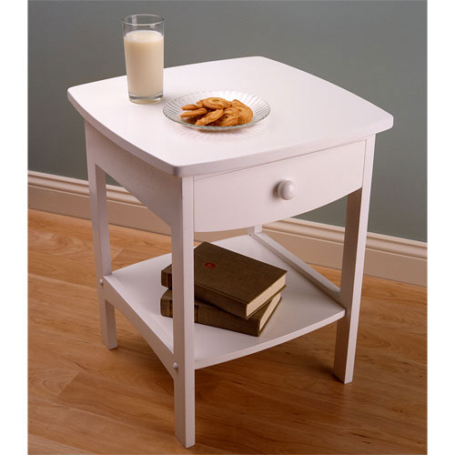 Superior Winsome Trading Curved 1 Drawer Nightstand / End Table   Walmart.com