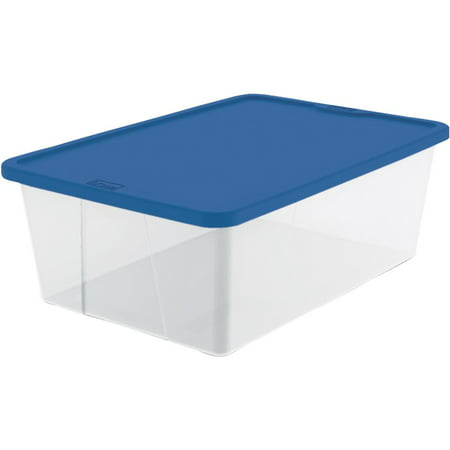 Homz 12 Qt. Clear Storage with Blue Lid