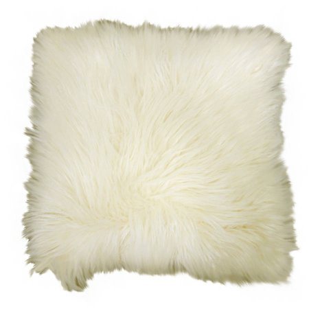 Better Homes & Gardens Arctic Faux Fur Decorative Throw Pillow 16