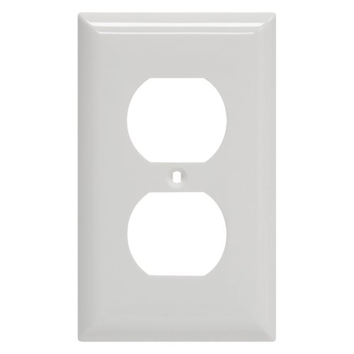 Receptacle Wall Plate, White