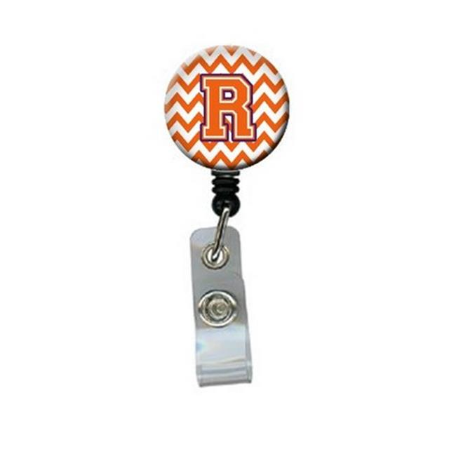 Carolines Treasures CJ1062-RBR Letter R Chevron Orange & Regalia Retractable Badge Reel - image 1 of 1
