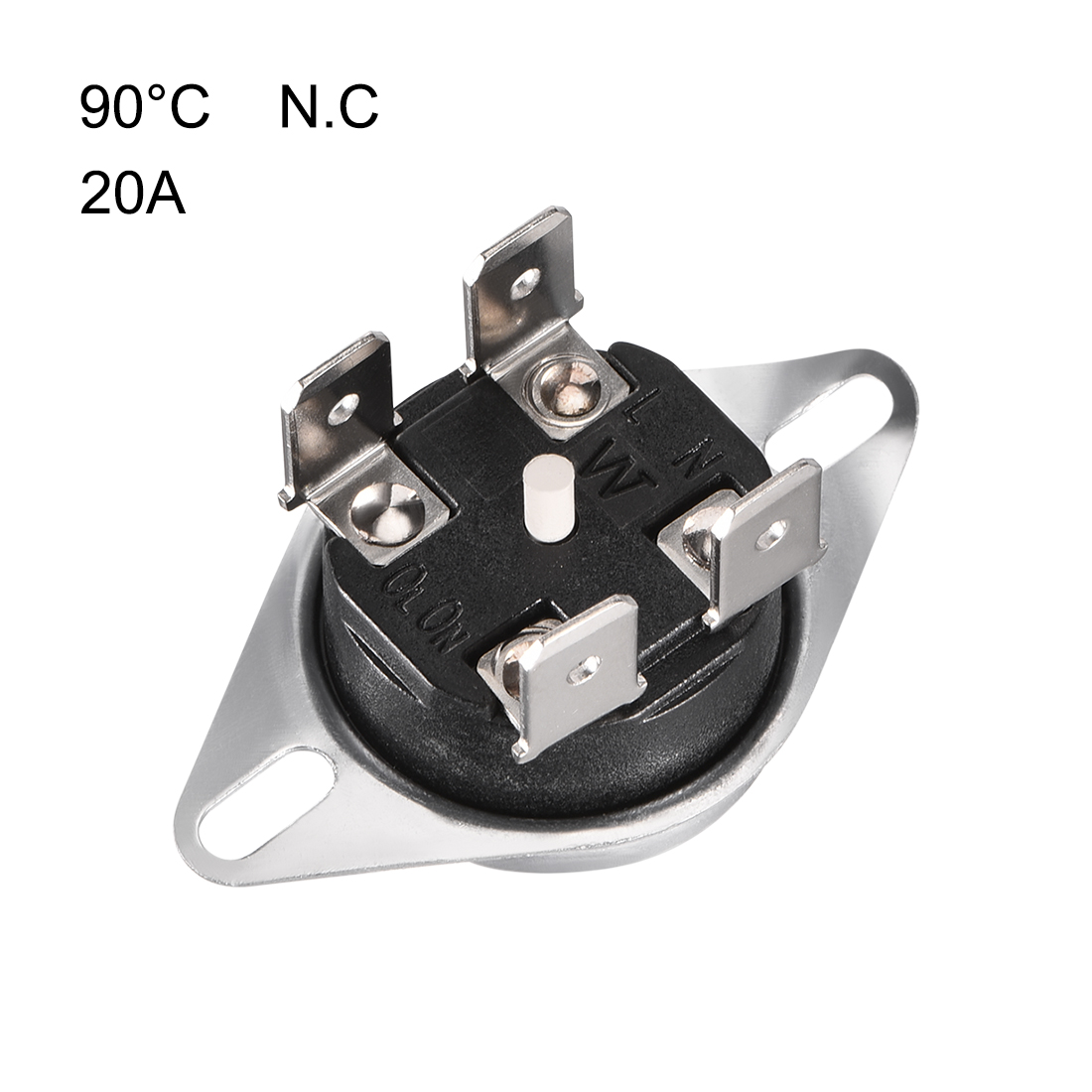 KSD302T Thermostat, Temperature Control Switch 90掳C Manual Reset N.C 6.3mm Pin - image 1 de 3